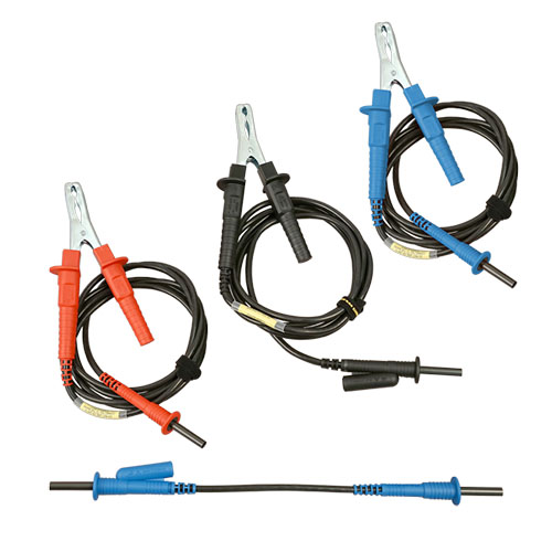 aemc 2119 85 set of 3  10 ft safety leads with hippo clips