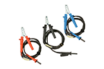 AEMC 2119.86 Set of 3, 25 ft Safety Leads with Hippo Clips for Megohmmeter Models 5050/5060/5070