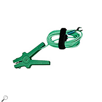 AEMC 2129.88 10 ft Green Replacement Lead with attached Clamp for Models 6290 & 6292