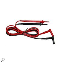 AEMc 2140.68 Set of 2, Color-coded 5 ft lead with safety needle