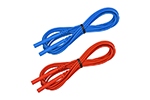 AEMC 5000.34 Leads, 5 ft Color-Coded Red & Blue for AEMC Ground Tester Reels-Set of 2 (#500034)
