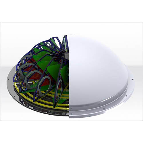 Aaronia IsoLOG 3D 160 3D RF Tracking Antenna Array 680 MHz to 6 GHz, 16 Sectors with 32 Antennas (Half View)