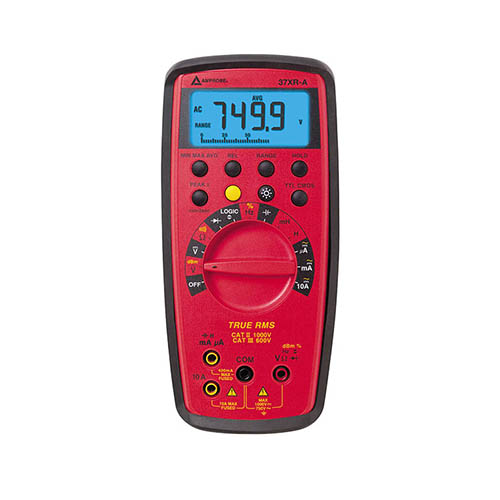 Amprobe 37XR-A True-RMS Autoranging Digital Multimeter w/ Component, Logic Test and Backlit Display