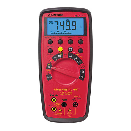 Amprobe 38XR-A True-RMS Autoranging Digital Multimeter with Optical PC Interface and Backlit Display