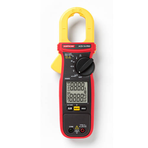 Amprobe ACD-14-PRO 600V/600A TRMS AC Autoranging HVAC/Electrical Clamp Meter w/ Dual Display & NCV
