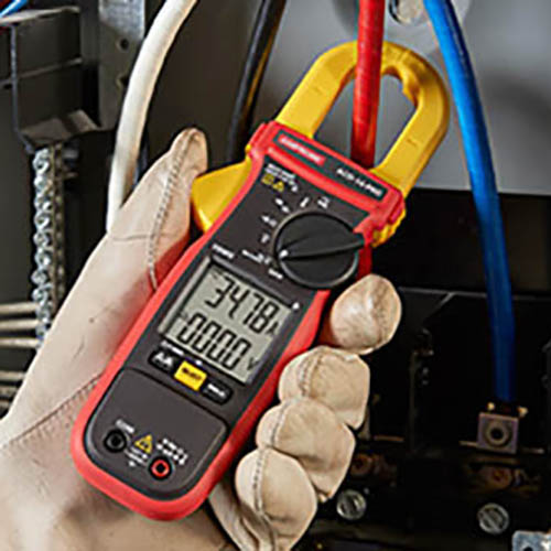 Amprobe ACD-14-PRO 600V/600A TRMS AC Autoranging HVAC/Electrical Clamp Meter w/ Dual Display & NCV (In Action)