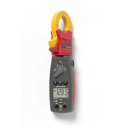 Amprobe ACD-23SW 600V/400A TRMS AC Auto/Manual Swivel Clamp Meter with Temperature and Voltect