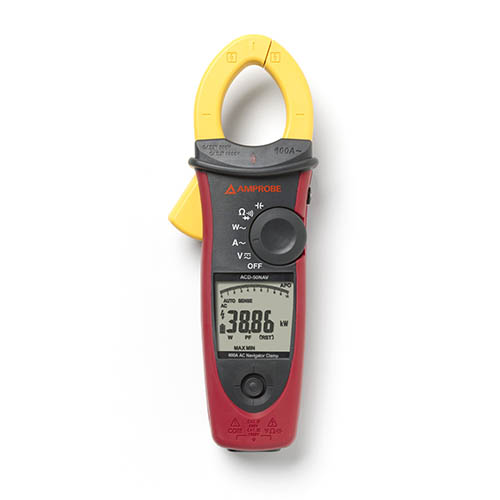Amprobe ACD-50NAV 1000V/600A TRMS AC Navigator Clamp Meter with THD and NCV Detector, CAT IV Rated