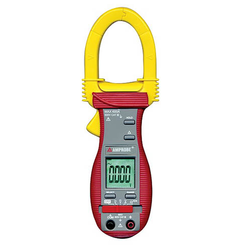 Amprobe ACD-6 PRO 600V/1000A Auto/Manual Ranging AC Clamp Meter with Audible Continuity and Case