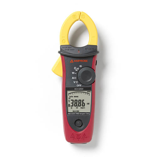 Amprobe ACDC-52NAV 1000V/600A TRMS AC/DC Navigator Clamp Meter w/ THD and NCV Detector, CAT IV Rated