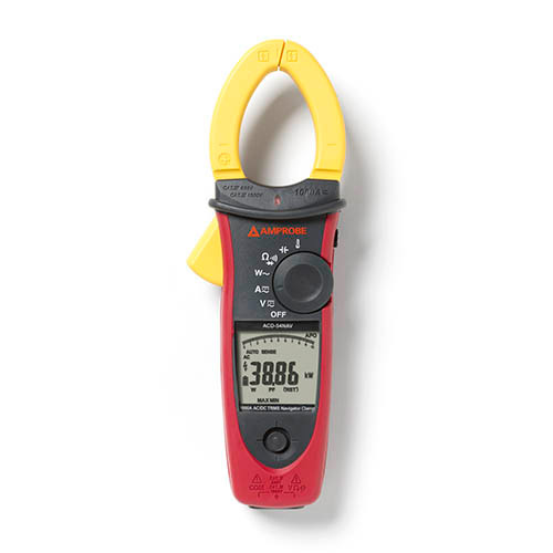 Amprobe ACDC-54NAV 1000V/1000A TRMS AC/DC Navigator Clamp Meter w/ Temperature. THD and NCV Detector