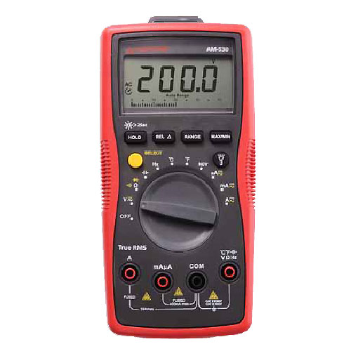 Amprobe AM-530 TRMS Auto/Manual Ranging Electrical Contractor Multimeter with Voltect NCV Detector