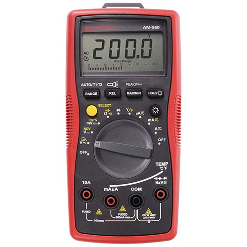 Amprobe AM-560 Advanced HVAC Multimeter, 1000V AC/DC with Voltect Non-Contact Voltage Detector