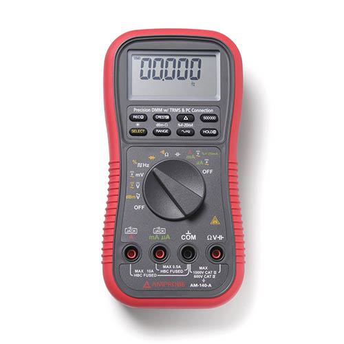 Amprobe AM-140-A True RMS Auto/Manual Ranging Digital Multimeter with Optical PC Interface