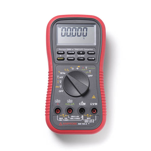 Amprobe AM-160-A 1000V TRMS AC/DC Digital Multimeter with Optical PC Interface and Dual Temperature