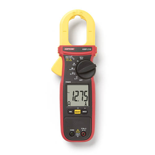 Amprobe AMP-210 600V/600A True-RMS AC Clamp Multimeter with Amp-Tip, CAT III Rated