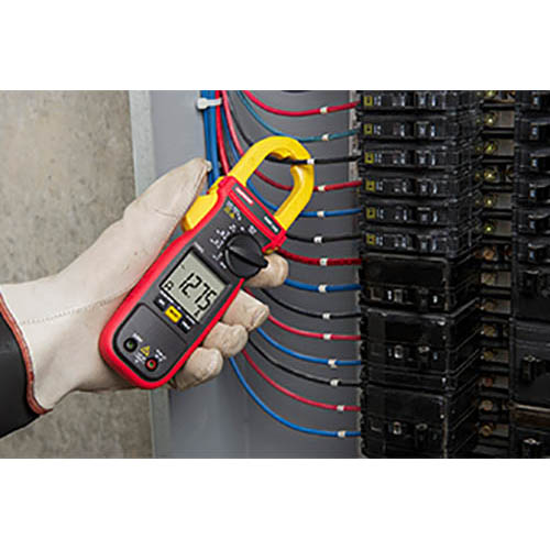 Amprobe AMP-220 600V/600A True-RMS AC/DC Clamp Multimeter with Amp-Tip, CAT II Rated (In Action)