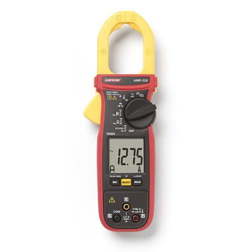 Amprobe AMP-320 600V/600A TRMS AC/DC Clamp Multimeter with 3-Phase Sequence and Motor Testing