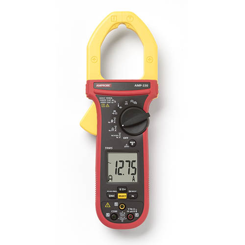 Amprobe AMP-330 1000V/1000A TRMS AC/DC Clamp Multimeter with  3-Phase Sequence and Motor Testing