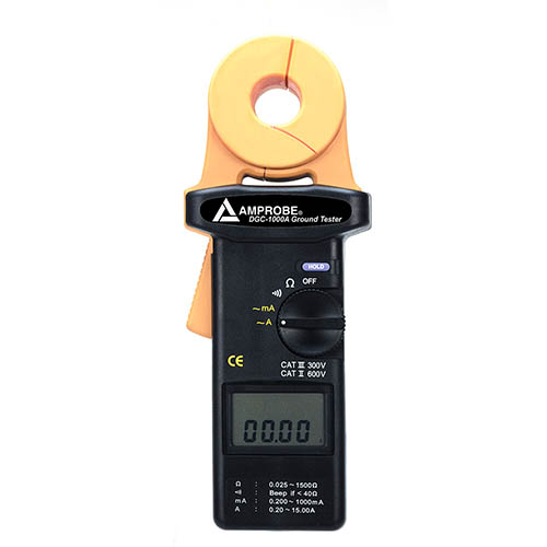 Amprobe DGC-1000A 0.025 to 1500 Ohms Clamp-On True-RMS Ground Resistance Tester w/ Datalogging