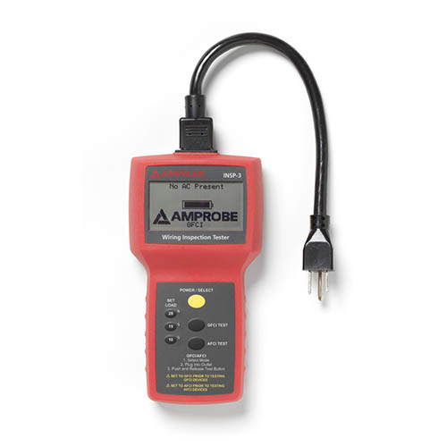 Amprobe INSP-3 Wiring Inspector Circuit Tester with 10, 15 and 20 amps Load Testing