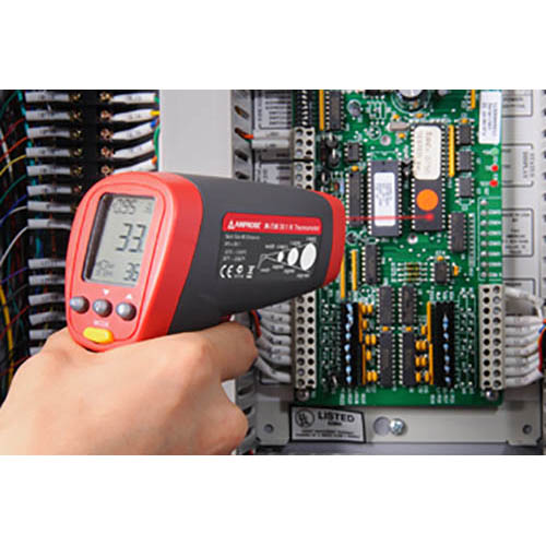 Amprobe IR-720 Infrared Thermometer w/ 20:1 Distance to Spot Ratio, Temperature Range -26 to 1922°F (In Action)