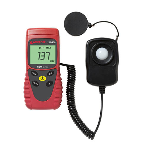 Amprobe LM-100 Digital Light Meter with Sensor Cap and Carry Case
