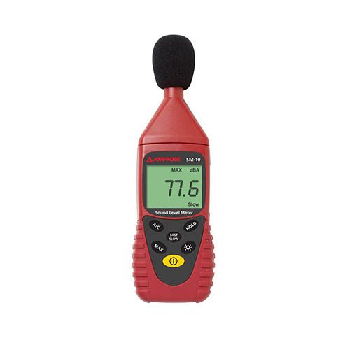 Amprobe SM-10 Sound Meter - A and C Weightings for Checking Compliance w/ Safety Regulations