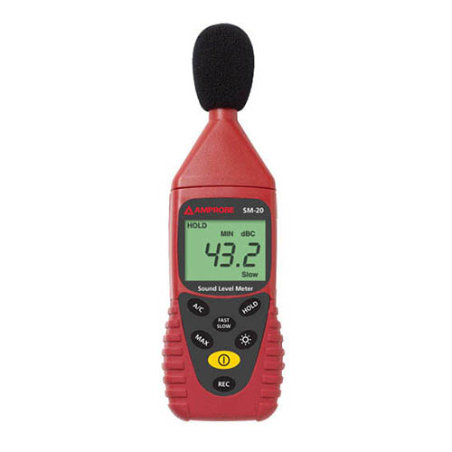 Amprobe SM20A Sound Level Datalogging Meter, A and C Weightings with USB and PC Software