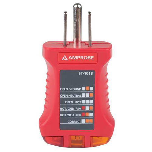 Amprobe Electrical Tester : Amprobe st b ac electrical receptacle socket tester