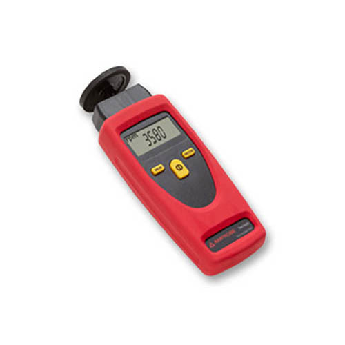 Amprobe TACH20 Contact / Non-Contact Tachometer, Rotational and Surface Speed with Digital Display (Side)