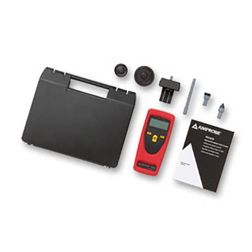 Amprobe TACH20 Contact / Non-Contact Tachometer, Rotational and Surface Speed with Digital Display (With Accessories)