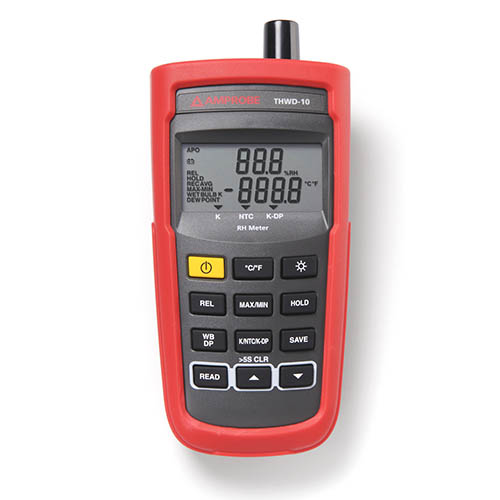 Amprobe THWD-10 Relative Humidity and Temperature Meter with Internal / External Temperature Sensors