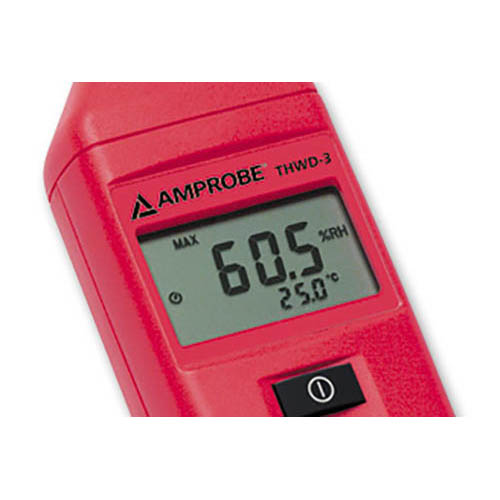 Amprobe THWD3 RH / Temperature Meter w/ Wet Bulb and Dew Point, Extended Probe and Capacitive Sensor (Close Up)