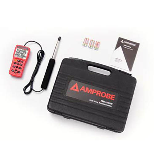 Amprobe TMA-20HW Hot Wire Anemometer with Fast Response Telescopic Probe and Hard Case (With Accessories)