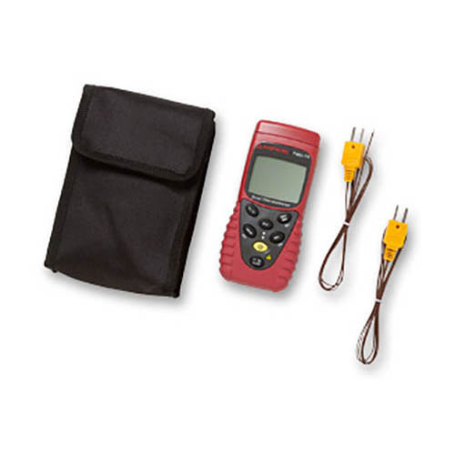 Amprobe TMD-10 K/J Type Dual Temperature Meter, with K Thermocouples and Carrying Case (With Accessories)