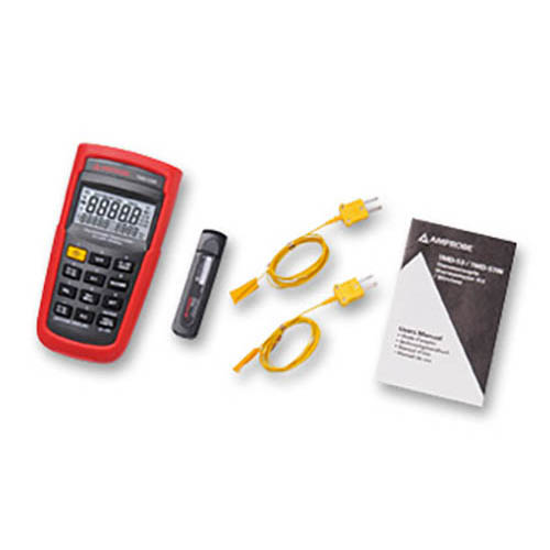 Amprobe TMD-53W K/J Type Dual Input Thermocouple Thermometer, Wireless w/ TIME Setting, REL Setting (With Accessories)