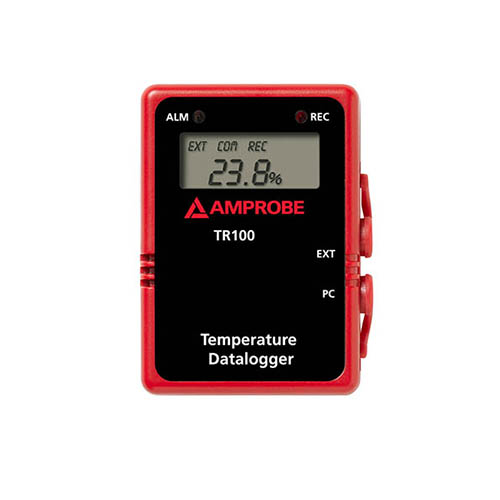 Amprobe TR100-A Wall Mountable Temperature Data Logger w/ Digital Display and RS232 Cable
