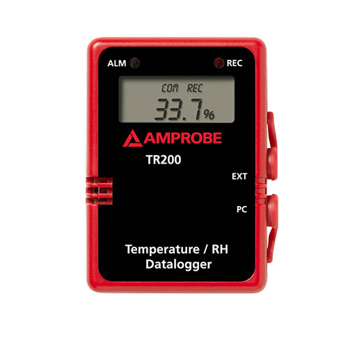 Amprobe TR200-A Wall Mountable Temperature / RH Data Logger with Digital Display and RS232 Cable