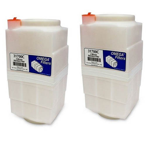 Atrix 31700-2P .3 Micron Standard Dust Filter Cartridge for Omega Portable Vacuums, 2 Pack