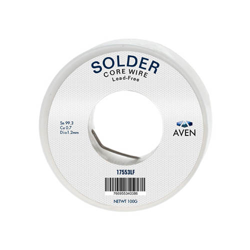 Click for larger image of the Aven 17553LF Lead Free Solder, 100g, 1.2 mm