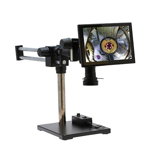 Click for larger image of the Aven 26700-107-15 Macro Vue HD Video Inspection System with Dual Arm Boom Stand