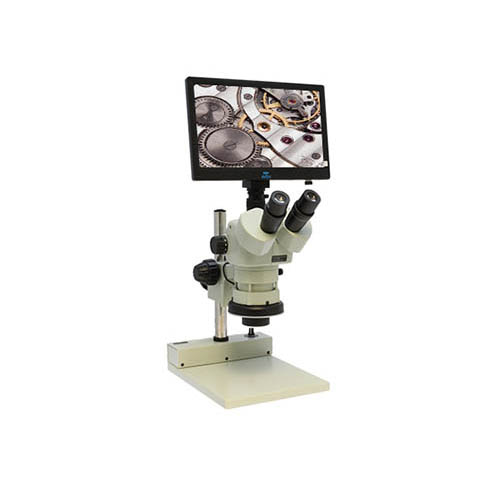 Aven Tools 26800B-339 DSZV-44 Trinocular Microscope w/ Mighty Cam Eidos 2M Integrated Camera/Monitor