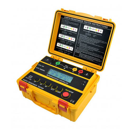 Besantek BST-ET103 4-Wire Earth Resistance & Resistivity Tester, 200 Stored Records