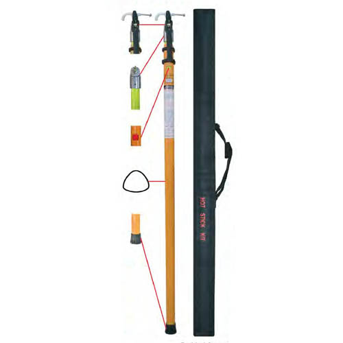 Besantek BST-HVD20-4 Telescopic Hot Stick, 4-Section, 1.53m Retracted to 5.10m Extended
