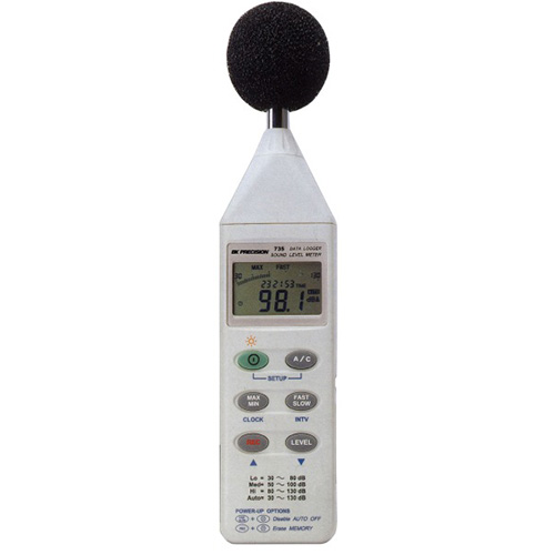BK Precision 735 Datalogging Digital Sound Level Meter w/RS232 Cable and Software