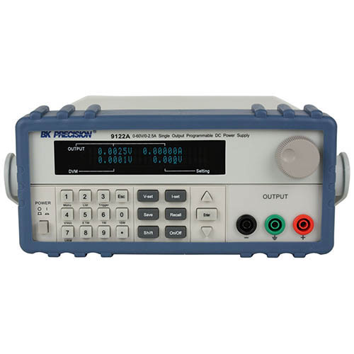 BK Precision 9122A Programmable Single-Output DC Power Supply with RS232, 60V/2.5A, 120VAC Line Input