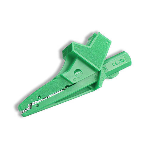 Cal Test CT2392A-5 Individual insulated large alligator clip, 4mm safety banana jack, Green, Qty 10