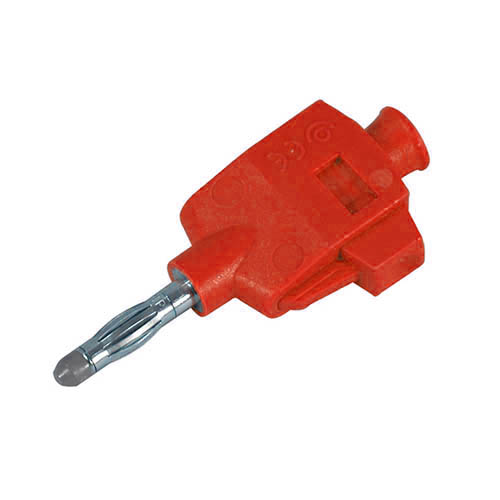 Cal Test CT3249-2 DIY Quick Connect solderless straight banana plug, Red, Qty 10