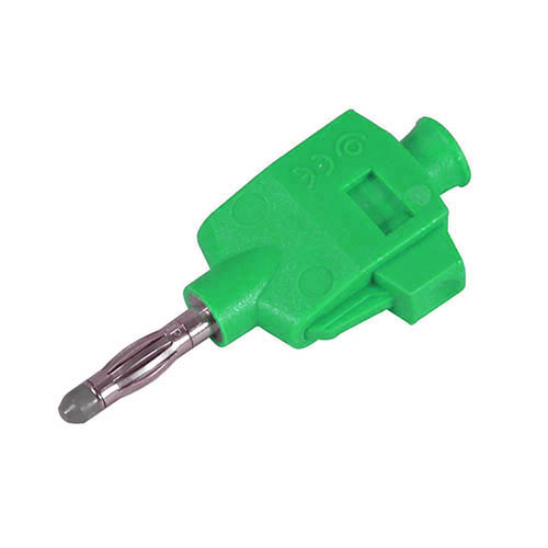 Cal Test CT3249-5 DIY Quick Connect solderless straight banana plug, Green, Qty 10